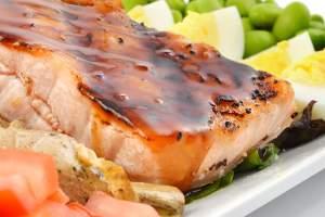 Glazed Salmon at Lattitude Restaurant