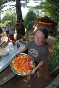 dryway rafting meal at zoar