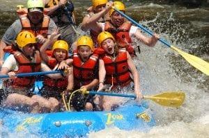group white water rafting