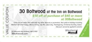 coupon book 30 boltwood