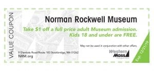 coupon book norman rockwell museum