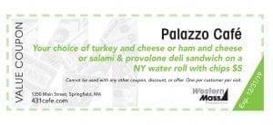 coupon book palazzo cafe