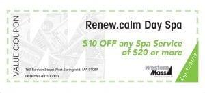 coupon book renew.calm spa