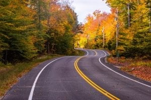 fall drives in new england